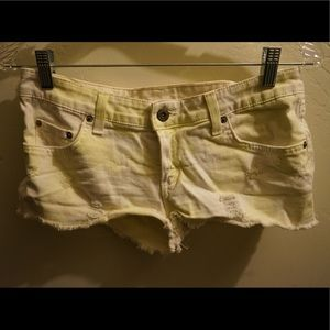 Yellow and white LF Carmar shorts size 27